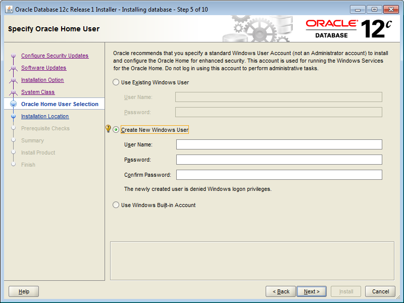 12c, Windows and the new Oracle Home User | CarajanDB