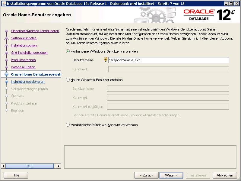 01 Oracle Service User IO