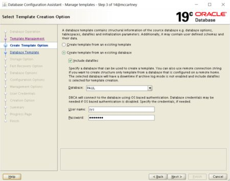 Create Template Step 2